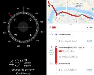 Kompass- und Karten-App